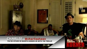 Charlie Sheen Winning Tigerblood Ustream show Sheen's Korner breaks twitter record